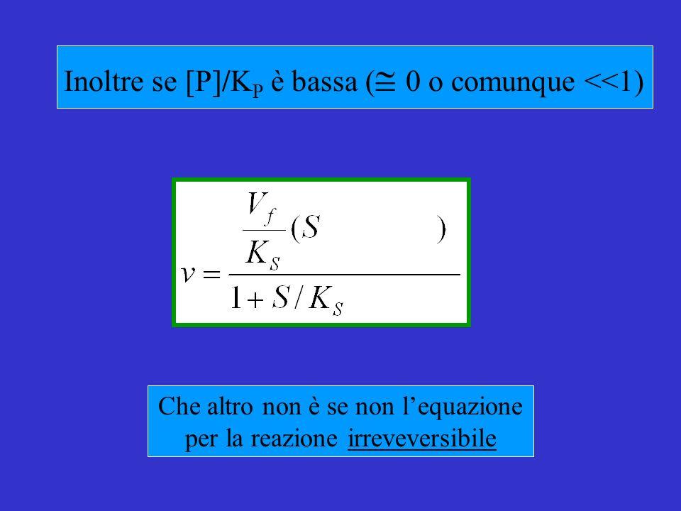 Inoltre se [P]/KP è bassa ( 0 o comunque <<1)